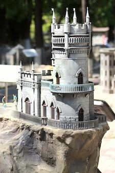 Parco delle miniature bakhchisarai. castello lastochkino gnezdo.