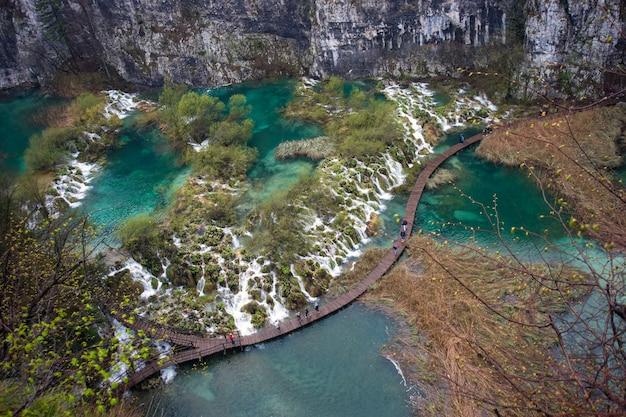 Parco nazionale dei laghi di plitvice, croazia