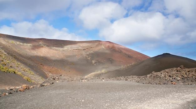 Parco nazionale di timanfaya a lanzarote, isole canarie, spagna