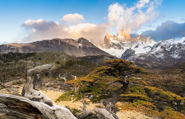 Parco nazionale los glaciares, provincia di santa cruz, patagonia, argentina, monte fitz roy.