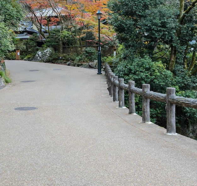 Parco nazionale minoo o minoh in autunno, osaka, giappone