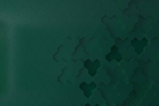 Parete 3d verde scuro per sfondo, sfondo o sfondo