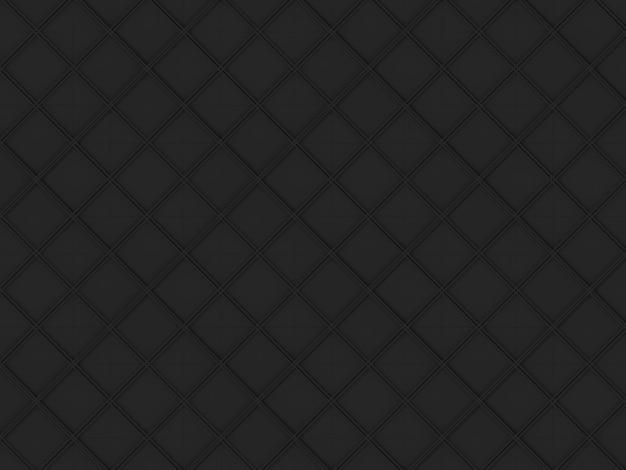 Parete del modello di forma di arte della griglia quadrata nera scura senza cuciture