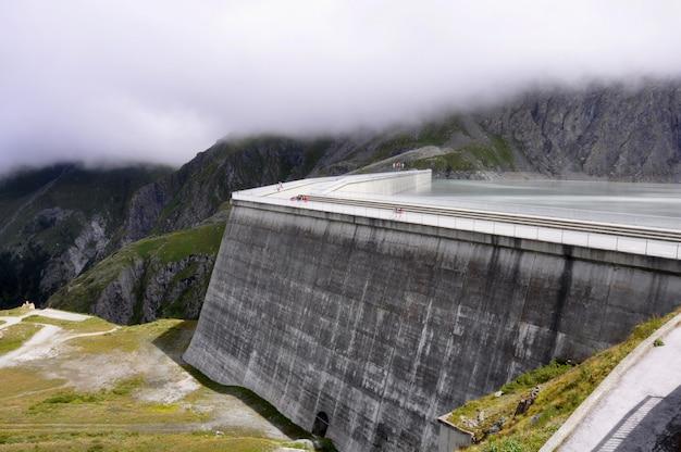 Parete della diga di hoover, paesaggio, natura, cascata del fiume