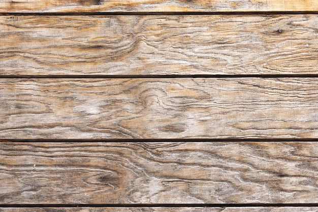 Parete di assi di legno marrone invecchiato