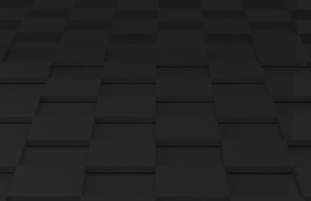 Parete moderna della stanza del pavimento delle mattonelle di griglia del quadrato scuro