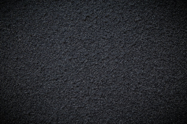 Parete nera della strada cementata di struttura o del fondo