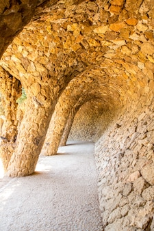 Park guell, barcellona, spagna