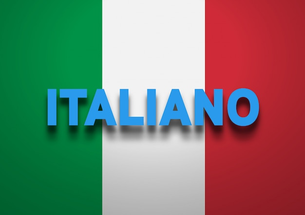 Parlando di background italiano