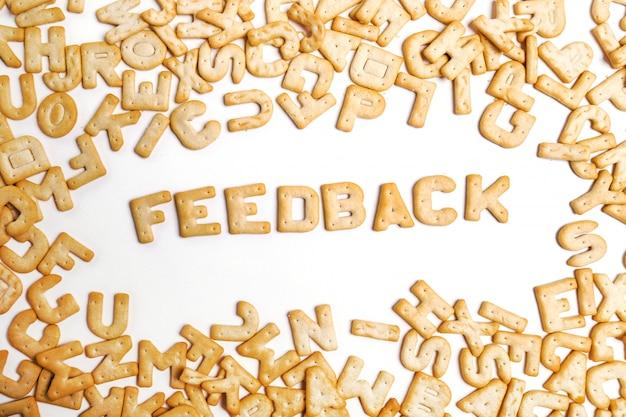 Parola di feedback scritta con i cookie