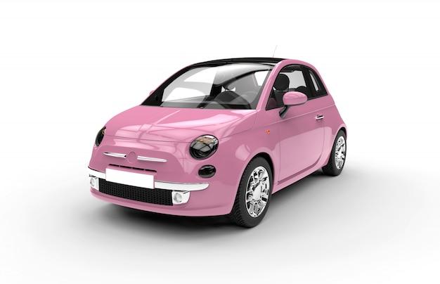 Parte anteriore di un'auto di città rosa generica