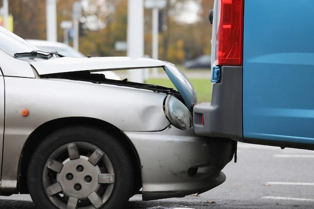 Parte danneggiata dell'auto