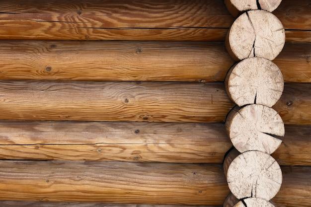 Parte del muro di sfondo cornice in legno