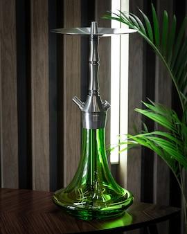 Parte del narghilè, design moderno, su uno sfondo.