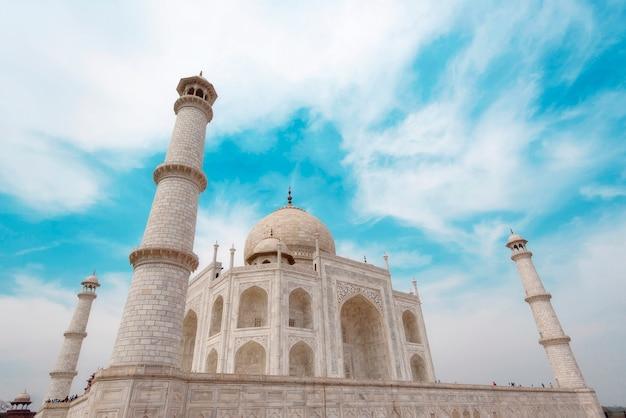 Parte della taj mahal mosque di agra in india