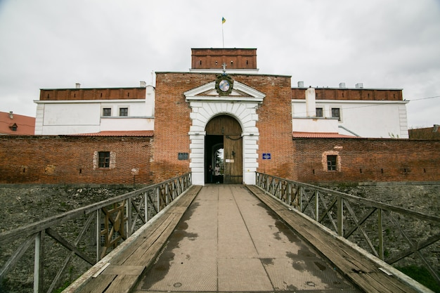 Parte delle fortificazioni del castello di dubno. ucraina