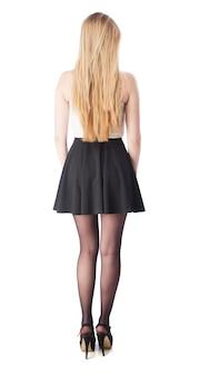 Parte posteriore della donna con la gonna