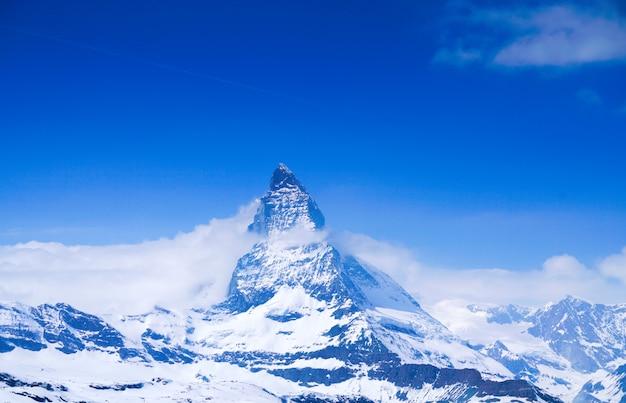 Parte superiore del cervino a zermatt, in svizzera