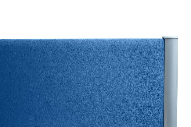 Partizione, partizione ufficio colore blu scuro isolato su sfondo bianco