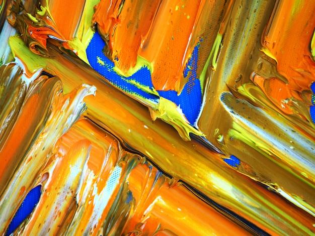Passi il fondo variopinto e la struttura astratti di colori della pittura a olio variopinta di tiraggio.