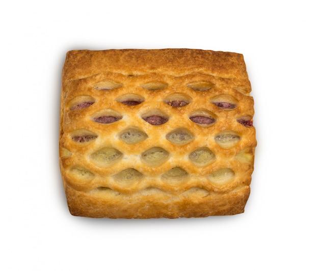 Pasta sfoglia intrecciata dolce o feuilletee del patè isolato