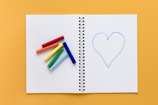 Pastelli su notebook
