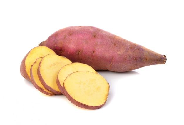 Patata dolce isolata
