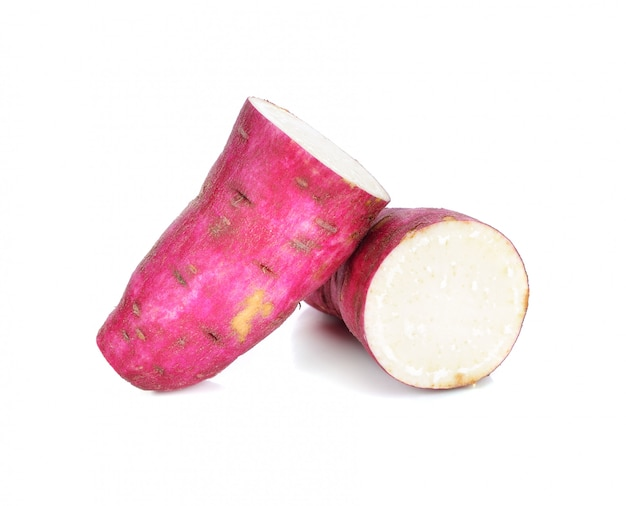 Patate dolci su bianco
