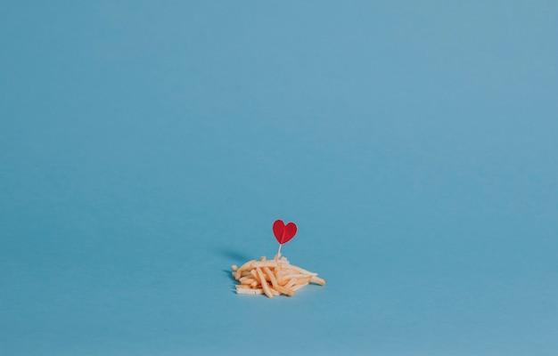 Patatine fritte per la cena di san valentino