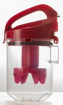 Pattumiera rossa trasparente per aspirapolvere