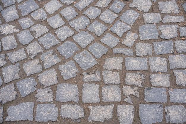 Pavimentazione in pietra sulla strada