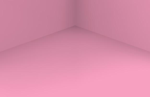 Pavimento della parete della camera angolare rosa dolce dolce.