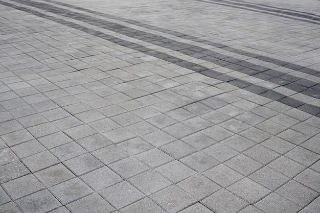 Pavimento in blocchi di cemento all'aperto