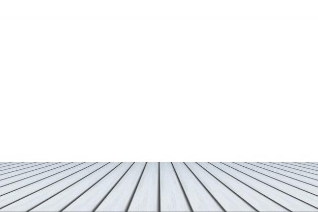 Pavimento in legno e sfondo bianco