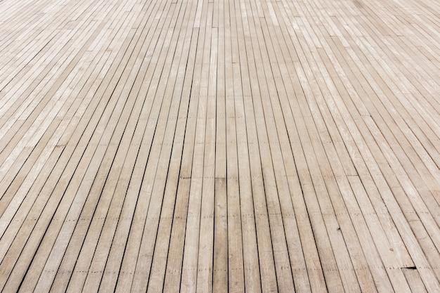 Pavimento in legno prospettico, immagine in soft focus