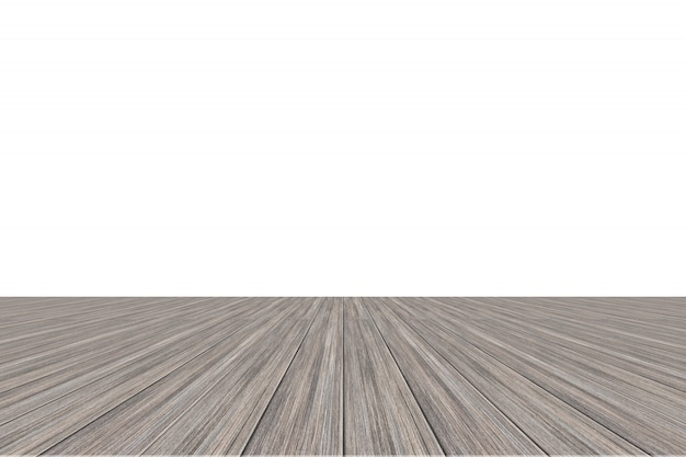 Pavimento in legno sfondo bianco