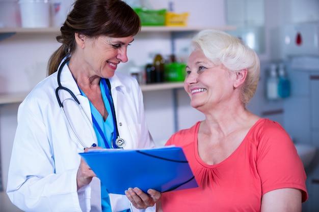 Paziente consultazione di un medico