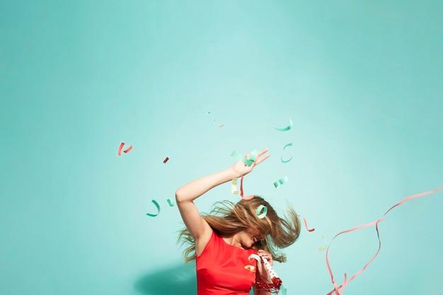 Pazzo festa con confetti