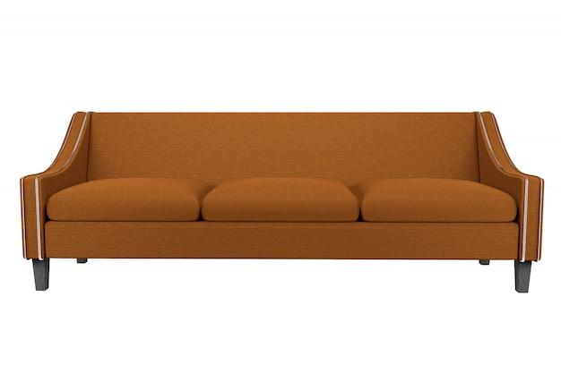 Pelle marrone e pelle tessuto sedia isolata