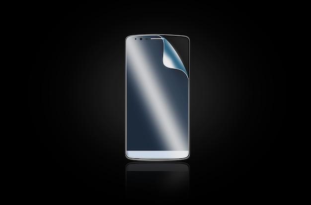 Pellicola protettiva per telefono sullo schermo.