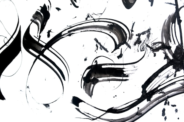 Pennellate astratte e schizzi di vernice su carta