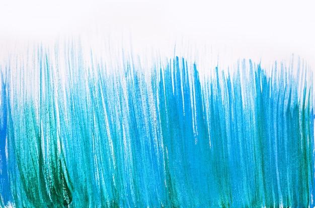 Pennellate astratte e spruzzi di vernice su carta. sfondo trama acquerello