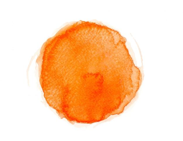 Pennello acquerello di colore arancione.