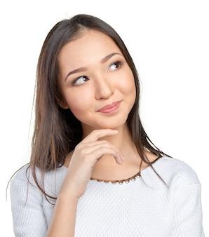 Pensiero della donna asiatica
