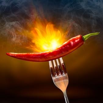 Peperoncino rosso fiammato