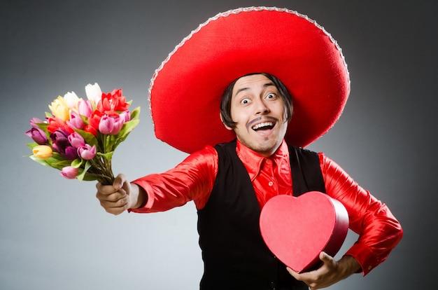 Persona che indossa cappello sombrero nel concetto divertente
