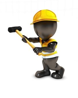 Persona che lavora nella costruzione