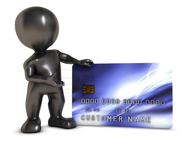 Persona con una carta di credito