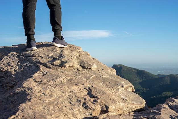 Persona sulla cima