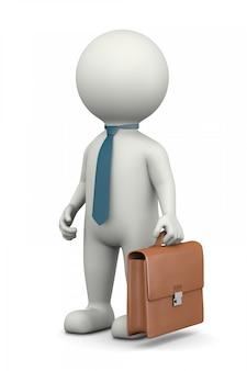 Personaggio 3d uomo d'affari